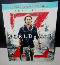 World War Z  (2013)  Pre-Owned Blu-ray + DVD (VG) Brad Pitt PG-13 Ships Free