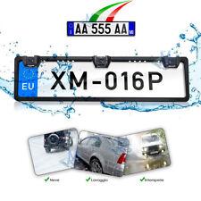 Kit retromarcia Portatarga 2 Sensori di parcheggio integrati e 1 Telecamera 170°