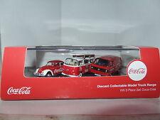 Oxford 76SET60CC SET60 3 Coca Cola Set Volkswagen VW Beetle T2 Camper T25 Van