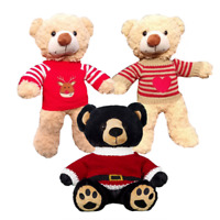 """CHRISTMAS SWEATER JUMPER -16""""/40cm TEDDY BEAR CLOTHES & BUILD A TEDDY BEAR-SANTA"""