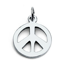 Tiny Peace Sign Hippie Symbol Charm Pendant #925 Sterling Silver #Azaggi P0016S