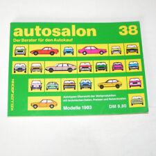 Autokatalog / Autosalon in Buchform Nr. 38 - Autotypen Übersicht Modelle 1983!
