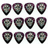 12 Pack DAY DEAD SUGAR SKULL CROSS PINK Medium Gauge 351 Guitar Picks Plectrum