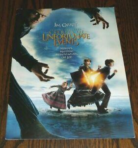 LEMONY SNICKET'S Series Unfortunate Events Movie Crew Credit Program + 6 PHOTOS