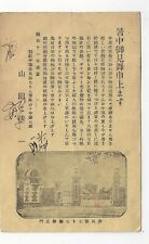 Unusual Japan Occupied Korea Military Postcard Postal Card Japanese 77th Army