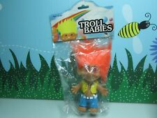 """Man In Vest & Jeans/Hippie - 5"""" Troll Babies - New In Package - Very Rare"""
