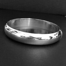 12mm W- Solid 925 Sterling Silver Bangle/Cuff-146- 4mm THK-Half a Round-Polished
