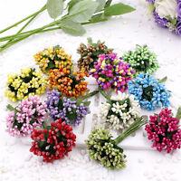 12X Beere künstliche handgemachte Blume für Hochzeit Home Decors Fake BlumeWCH