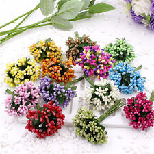 12x Berry artificial flor hecha a mano para la boda decoración del hoSTG