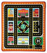Melissa & Doug Round the City Rescue Rug with 4 Wooden Cars