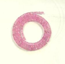 "Light pink Songea SAPPHIRE faceted rondelle beads AAA+ 2-3.5mm 17.4"" strand"