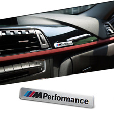BMW M PERFORMANCE INTERIOR BADGE EMBLEM SILVER SERIES X5 X6 M3 M5 M /-m10-/