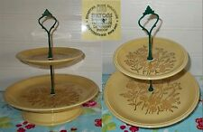 2 niveles Reposteria Pastel Placa Soporte de exhibición Biltons Staffordshire años 70