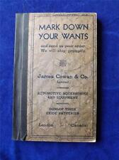 MARK DOWN YOUR WANTS BOOK JAMES COWAN & CO. AUTOMOTIVE ACCESSORIES LONDON CANADA