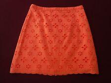 The Loft Above the Knee Women's Lined Orange Skirt Size 2