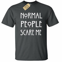 KIDS BOYS GIRLS Normal People Scare Me T Shirt funny goth rock punk emo