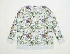 Next Womens Size L Floral Cotton Grey Maternity Sweatshirt (Maternity)