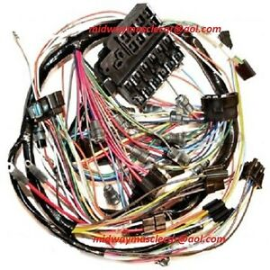 dash wiring harness 64 Chevy Corvette WITHOUT backup lights