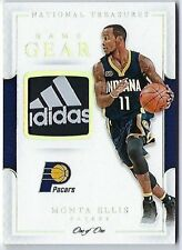 2016-17 National Treasures Monta Ellis 1/1 Adiddas Tag Patch Indiana Pacers