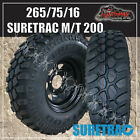 """16"""" black steel wheel fitted with Suretrac 265/75R16L/T MUD tyre. 265 75 16 32"""""""