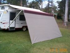 Shade Curtain/Privacy screen 2.1x4.0m (6.9x13.1ft) for caravan Roll out Awning