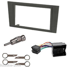 FORD MONDEO 2003 - 2007 GREY DOUBLE DIN FASCIA FACIA FITTING PACKAGE KIT