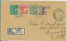 POSTAL HISTORY -  ANTIGUA : REGISTERED COVER from ST JHON'S to USA 1938