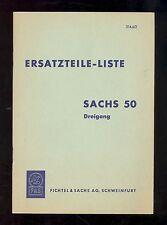 SACHS 50 / DREIGANG PARTS MANUAL / ORIGINAL EARLY / 316.6 6/2