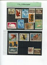 17 PCS MAINLY RABBIT USED STAMPS # T008