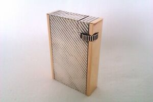 Rare Solid Silver & 18ct Gold French Art Deco Petrol Lighter Dunhill .? 1932