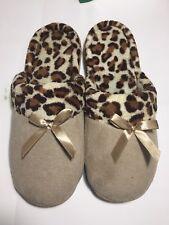 Pantofole donna beige con pelliccia interna nuovo con scatola taglia UK 5