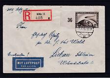 DR 1929 Zeppelin Michel Nr. 424 auf Flugpost Reco ECHT gelaufen
