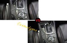 2pcs Carbon Fiber Interior Gear box Panel Cover Trim For Mazda 3 Axela 2014-2016