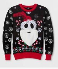 Nightmare Before Christmas Jack Skellington Santa Beard Ugly Sweater Big Tall
