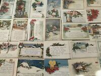 ~TRUE VINTAGE WHITNEY~CHRISTMAS COLLECTION~LOT of 25 XMAS POSTCARDS--a185