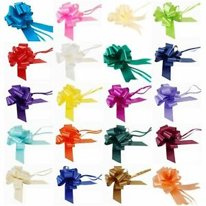 Pull-Bows-50mm-30mm-Large-Small-Florist-Ribbon-Wedding-Car-Decorations-Gifts-