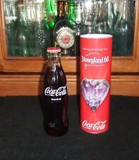 Rare Disneyland 60th Disney Diamond Celebration Coke Coca-Cola Glass Bottle !!!