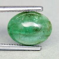TOP EMERALD : 3,95 Ct Natürlicher Grüner Smaragd aus Sambia