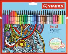 Stabilo Pen 68 Filzstifte - 30er Kartonetui