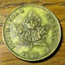 1915 B.C. Canada  47 Regimental Institute 10¢ In Trade Token Date (D31)