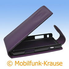 Flip Case Etui Handytasche Tasche Hülle f. Samsung GT-S5260 / S5260 (Violett)
