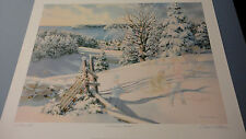 "Charles Peterson "" The Sledding Hill "" Limited Edition Print Artist Proof"