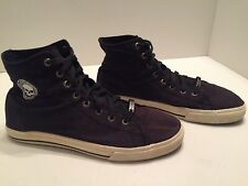 Harley Davidson Men's Black Canvas Hi Top Sneakers Size 12