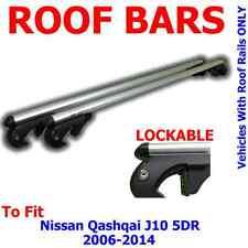 Nissan Qashqai (J10) 5 Door 06>14 Aluminium Locking Aero Roof Bars
