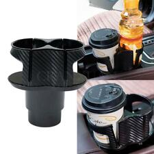 Carbon Fiber Look Center Console Drink Cup Holder Box for Car Interior Parts New