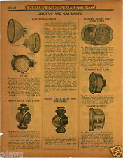 1915 PAPER AD French Style Car Auto Tail Lamps Electrobrola Lamp Cowl Dash