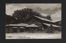 Antonito Colorado Co 1940s Rppc Mankehaven on the Conejos, Log Cabin Lodges