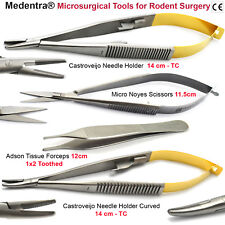 Microsurgical Tools Rodent Surgical Tc Needle Holder Scissors Forcep Save £55