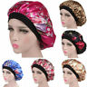 Silk Night Sleep Cap Hair Bonnet Hat Head Cover Satin Turban Wrap Band Elastic