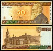 LITHUANIA 50 LITU 2003 P 67 UNCIRCULATED